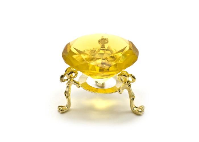 Кришталевий кристал на підставці жовтий (5 см) ЗП-25654
