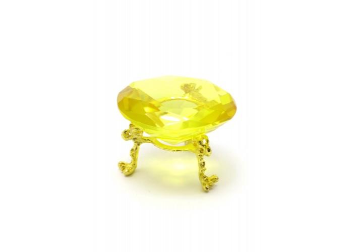 Кришталевий кристал на підставці жовтий (6 см) ЗП-28853