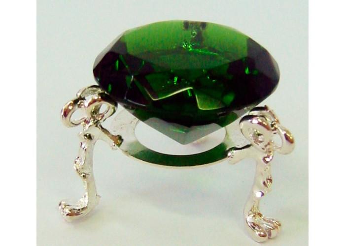 Кришталевий кристал на підставці зелений (4 см) ЗП-20302