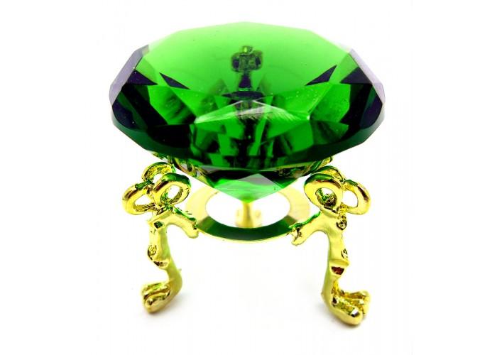 Кришталевий кристал на підставці зелений (5 см) ЗП-18161