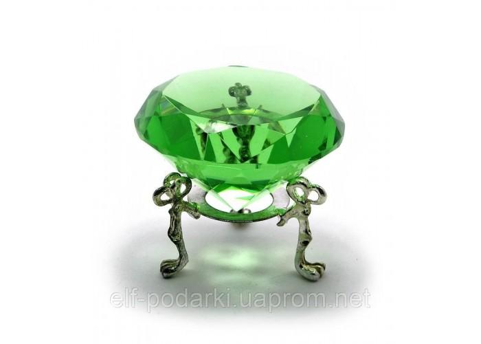 Кришталевий кристал на підставці зелений (6 см) ЗП-20383
