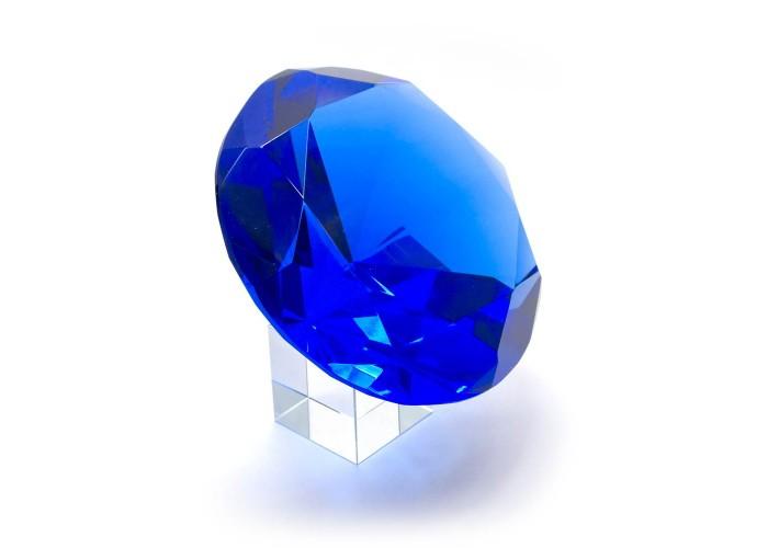 Кришталевий кристал на підставці синій (12 см) ЗП-25553
