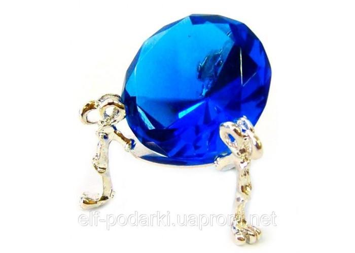 Кришталевий кристал на підставці синій 4см (20301)
