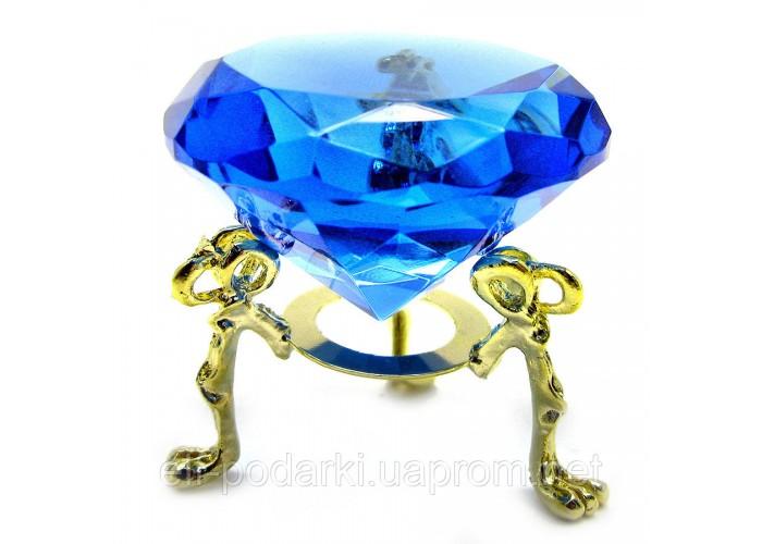 Кришталевий кристал на підставці синій (5 см) ЗП-18198