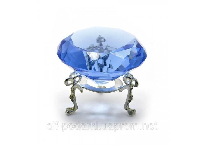 Кришталевий кристал на підставці синій (6 см) ЗП-20380