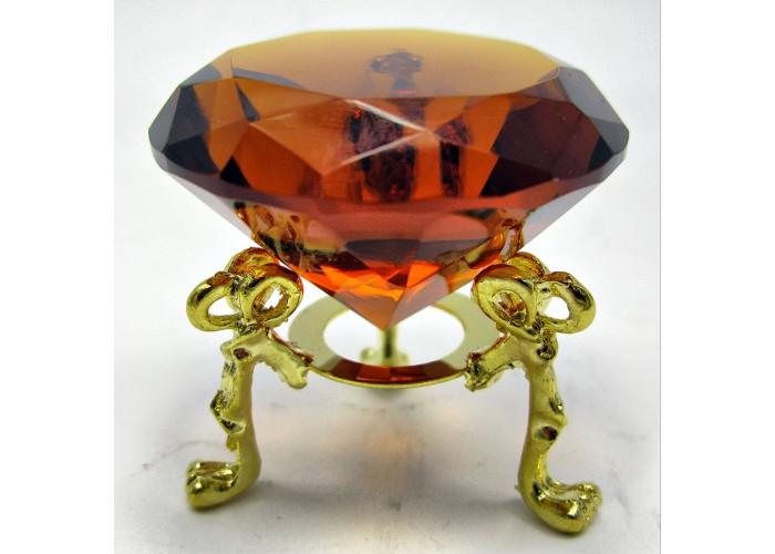 Кришталевий кристал на підставці бурштин (5 см) ЗП-18200