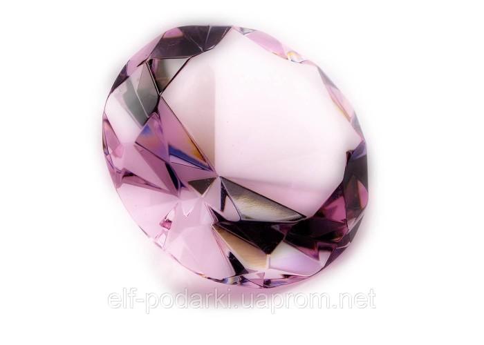 Кришталевий кристал рожевий 8см (21335)