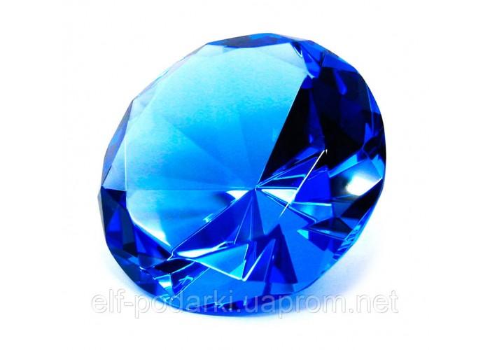 Кришталевий кристал синій 8см (20278)