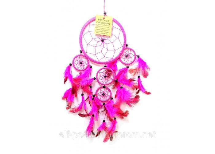 Ловець снів рожевий d-12см h-45см (33571F)