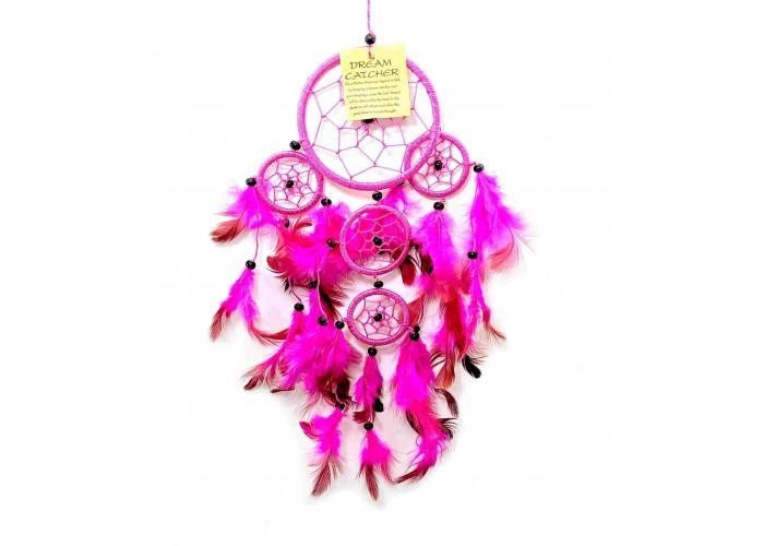 Ловець снів рожевий d-9см h-35см (33670B)