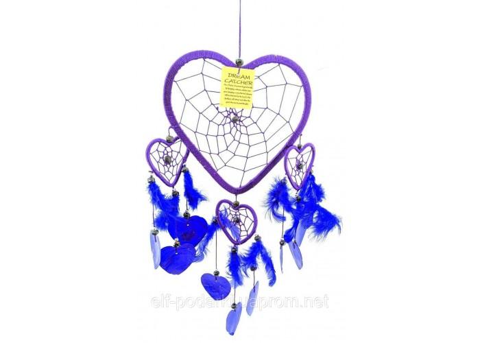 Ловець снів Сердечко фіолетовий 38х18см (32677C)