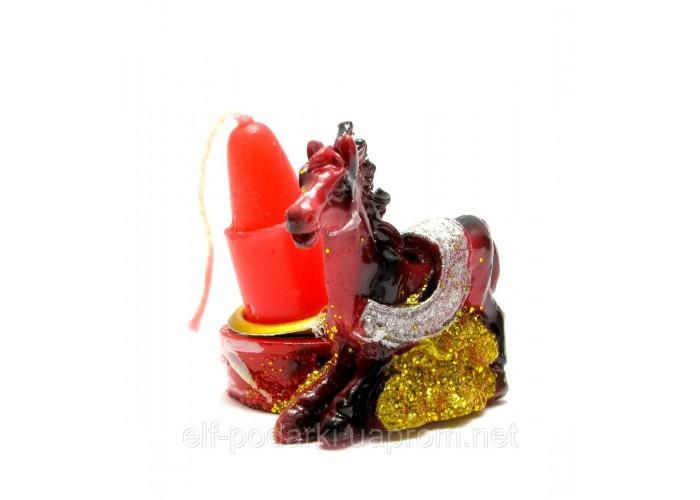 Кінь зі свічкою (12 шт/уп)(3,5х3,5х3 см)