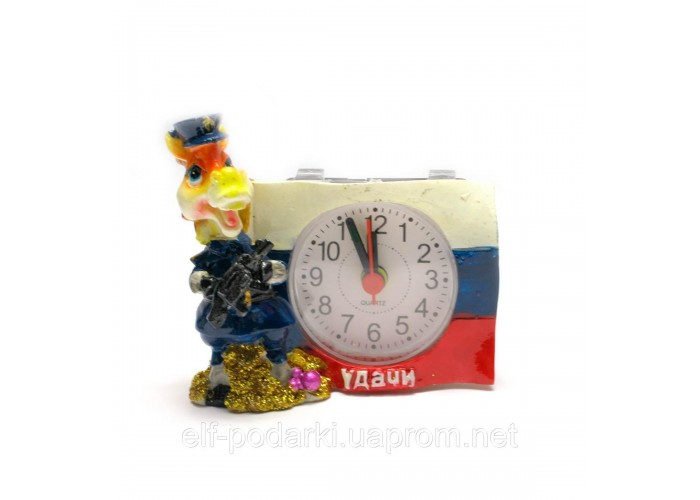 Кінь годинник з будильником (8х8,5х5 см)