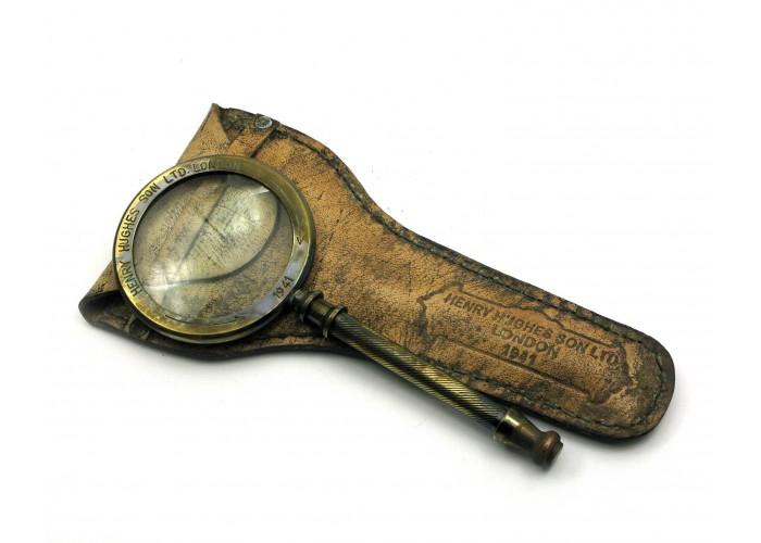 Лупа бронзова в шкіряному чохлі (23х12х2 см) ЗП-28240