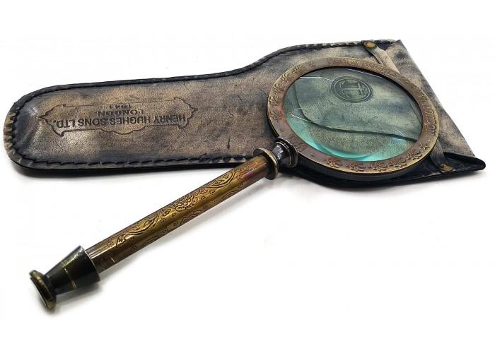 Лупа бронзова в шкіряному чохлі (26х15х2 см)B ЗП-28240B