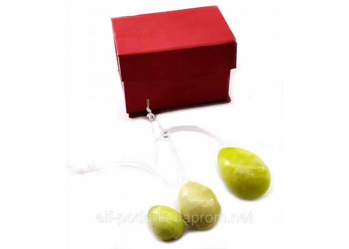 "Масажер нефрит ""Кулі Венери"" вагінальні у футлярі (13х7х6 см)(Fine)"