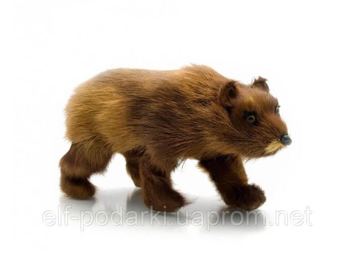 Ведмідь (натуральне хутро)(22х11х7 см)