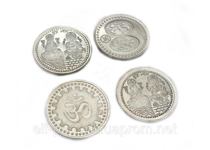 """Колекційна Монета """"Ганеша і Лакшмі"""" (Індія)(3,2 см)"""