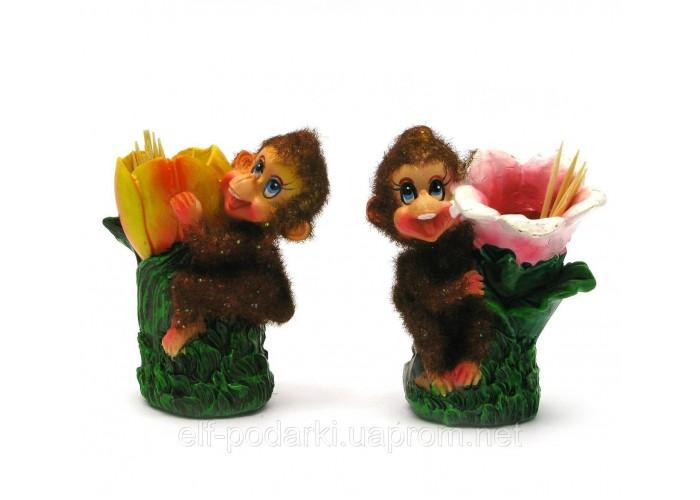 Мавпочка з зубочистками(8 шт/уп)(6,5х5,5х3,5 см)