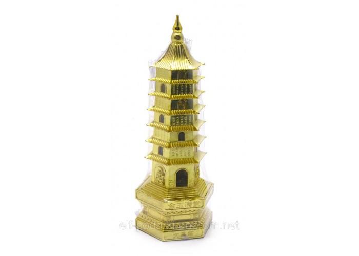 Пагода 7 ярусів з підсвічуванням метал 17,5х6х7см (28816)