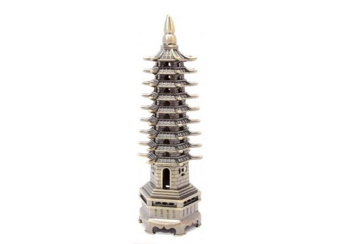 Пагода 9 ярусів метал 18х5х5,5см (29778)