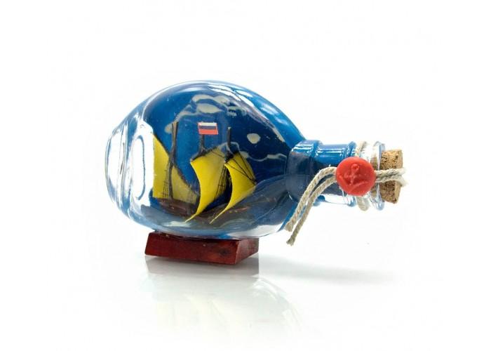 Вітрильник у пляшці (13,5х8х5,5 см) ЗП-23313
