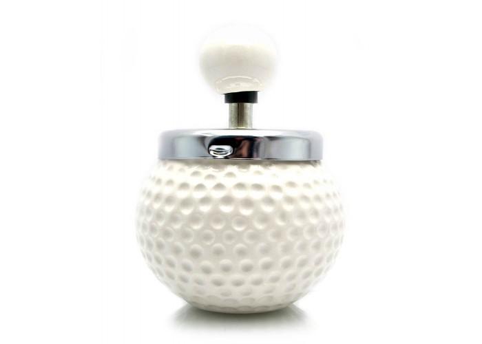"""Попільничка з кришкою керамічна """"М'яч для гольфу"""" (14х9х9 см) ЗП-23674"""