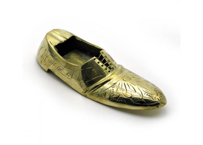 """Попільничка туфля бронзова (15,5х5,5х4 см)(6"""") ЗП-3177"""