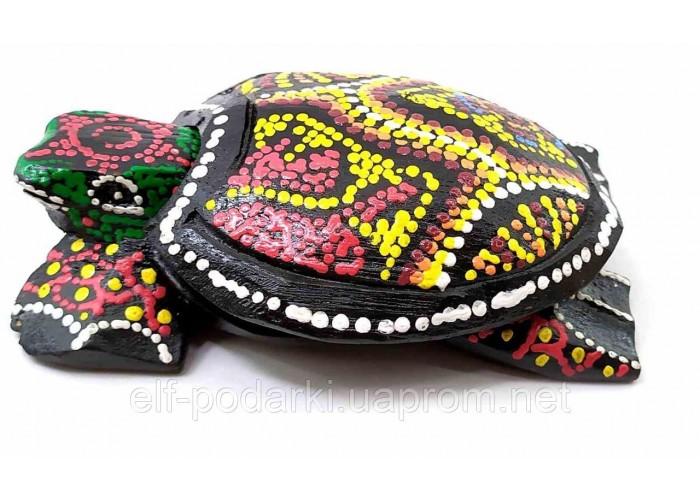 Попільничка черепаха дерев'яна мальована 12х8х3см (32695B)