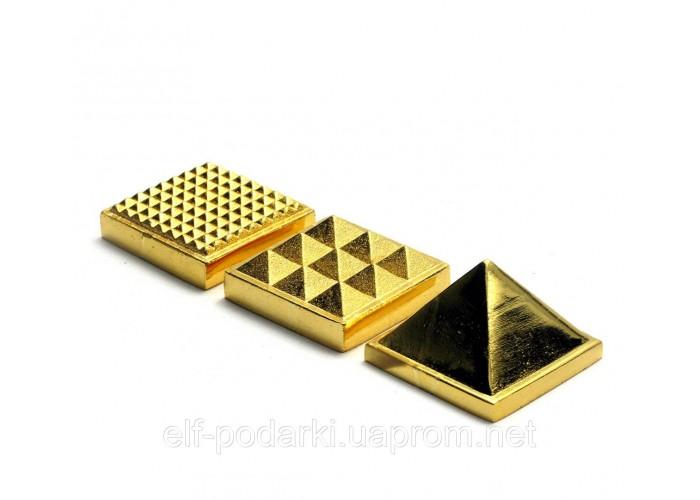 Енергетична піраміда бронзова 3х3х3см (27837)
