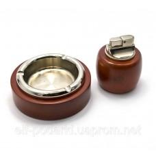 Подарочный набор (Пепепельница с зажигалкой)(19х16,5х4,5 см)