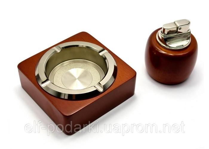 Подарунковий набір BORUI Попільничка з запальничкою 22х17х8см (25490)