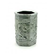 """Підставка для ручок """"Дракони"""" срібло (11х7х8 см) ЗП-27107"""