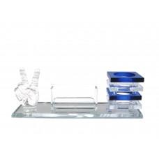 Підставка для ручок і візиток кришталь (25,5х8,8х10 см) ЗП-28412