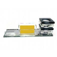 Подставка для ручек и визиток хрусталь (25,5х8,8х9 см)