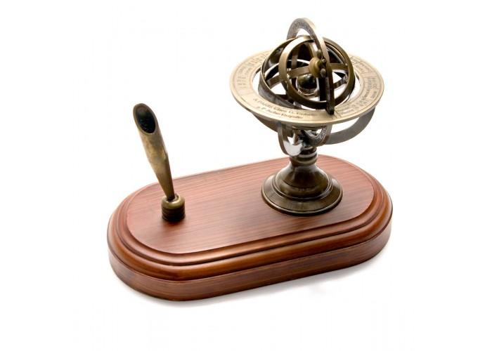 """Підставка для ручки """"Сфера"""" бронза (14х18х10 см) ЗП-26566"""