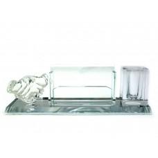 Підставка для ручки і візиток кришталь (22х7х6,5 см) ЗП-28408