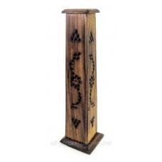 """Підставка для пахощів """"Вежа"""" дерево 30х8,5х8,5см (20392B)"""