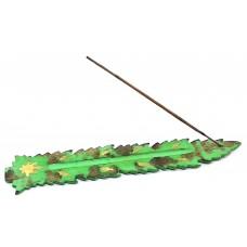 """Підставка під пахощі """"Лист"""" зелена (26х4х0,5 см) ЗП-32599"""