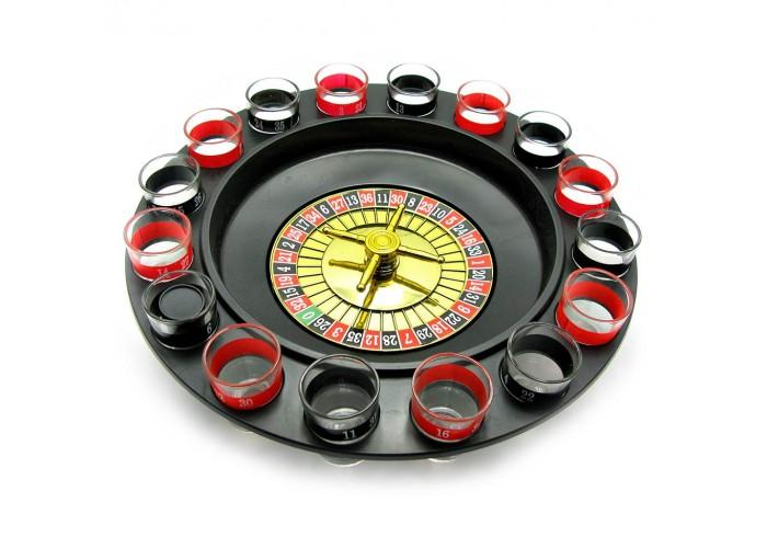 Рулетка з чарками чорна (33х33х9 см)(без упаковки)