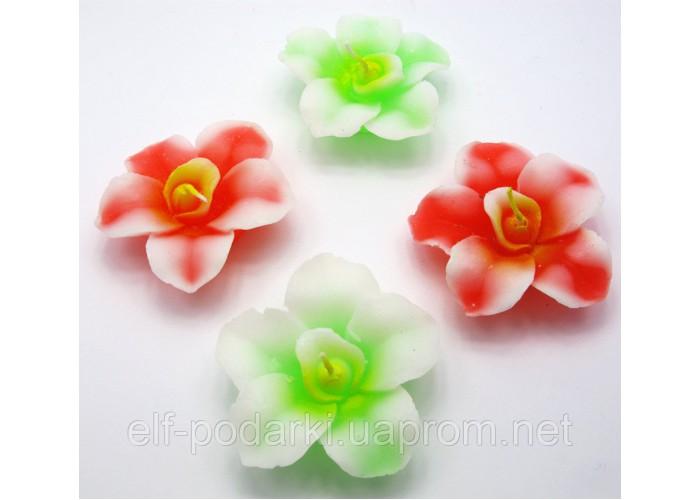"""Свічка """"Квітка орхідеї"""" (2 шт/уп)"""