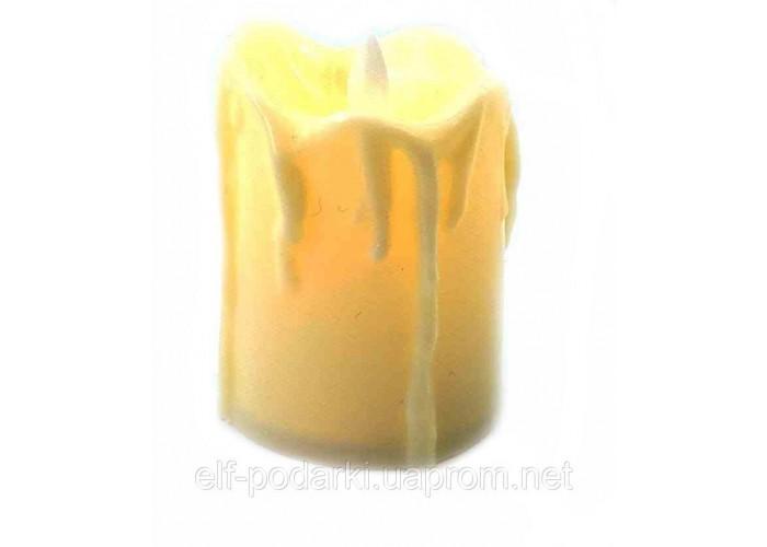 Свічка з Led підсвічуванням (5х3,5х3,5см)
