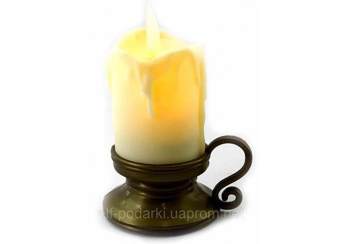 Свічка з Led підсвічуванням з рухомим полум'ям (9х7х5,5см)