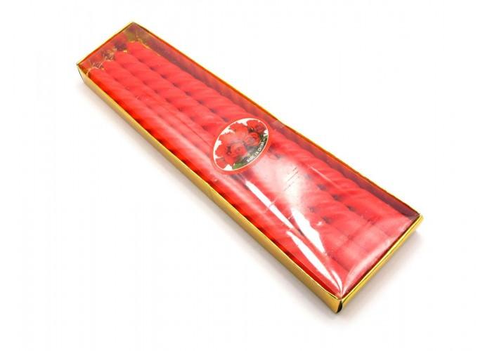 Свічки червоні (набір 4 шт)(25,5х8х2 см) ЗП-26914