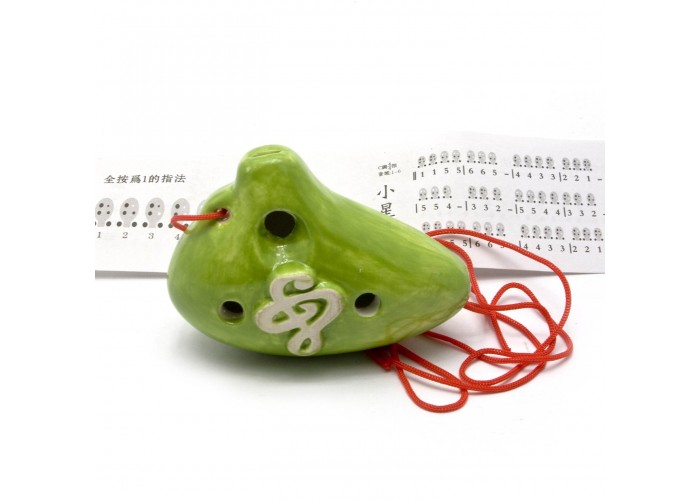 """Свистулька керамічна """"Амфора"""" зелена (8,5х6х4 см) ЗП-28997"""