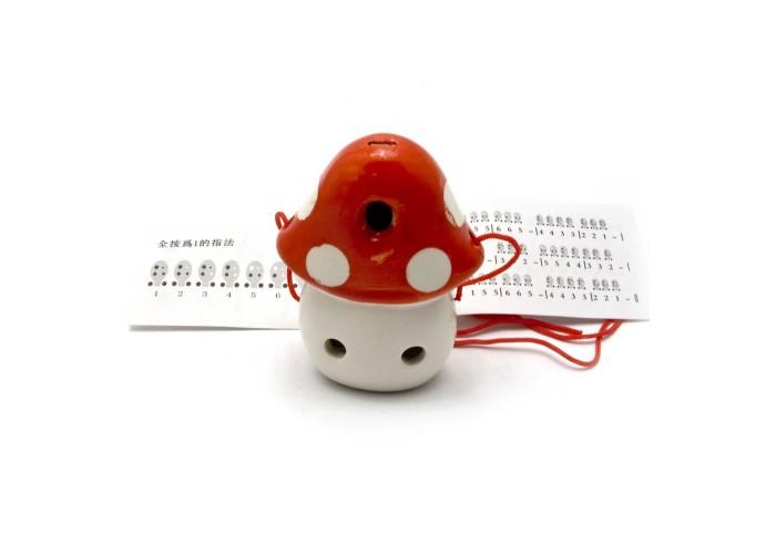 """Свистулька керамічна """"Гриб"""" червона (8,5х6х4 см) ЗП-28996"""