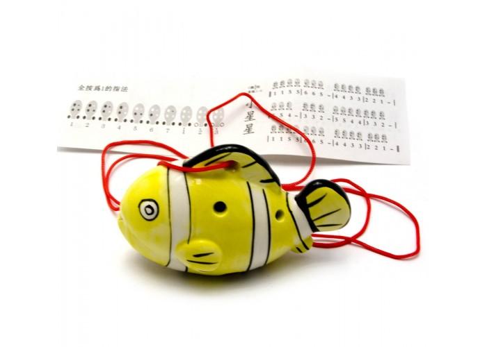 """Свистулька керамічна """"Риба"""" жовта (8,5х6х4 см) ЗП-28999"""