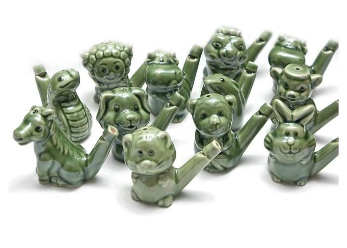 """Керамічні свищики """"Гороскоп"""" (6,5х8х3,5 см)(набір 12 шт) ЗП-26016"""