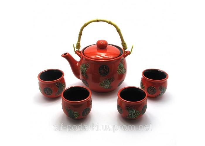 Сервіз керамічний чайник 700мл 4 піали 50мл (28014)