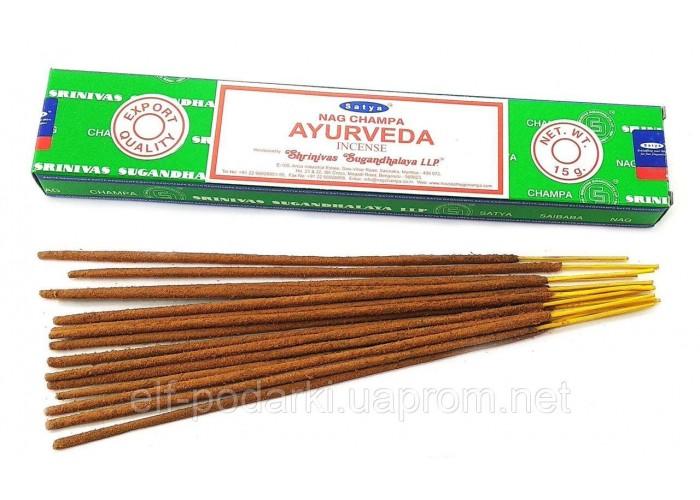 Ayurveda (Аюрведа)(15 gms) (12/уп) (Satya) Масала пахощі ЗП-32489